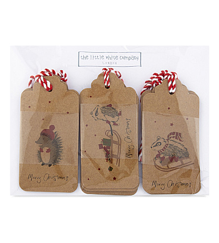 THE WHITE COMPANY Woodland gift tags set of 12 (Multi