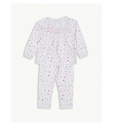 THE LITTLE WHITE COMPANY Meadow print cotton pyjamas 1-6 years (Multi