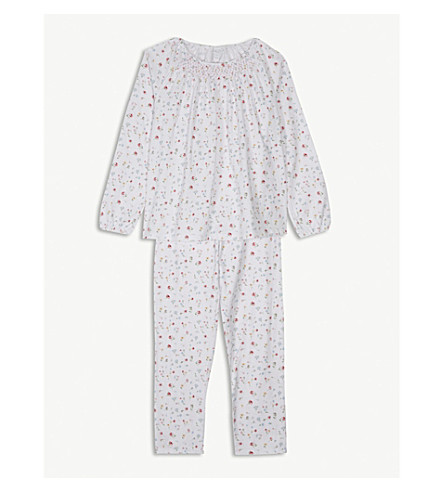 THE LITTLE WHITE COMPANY Meadow print cotton pyjamas 7-12 years (Multi