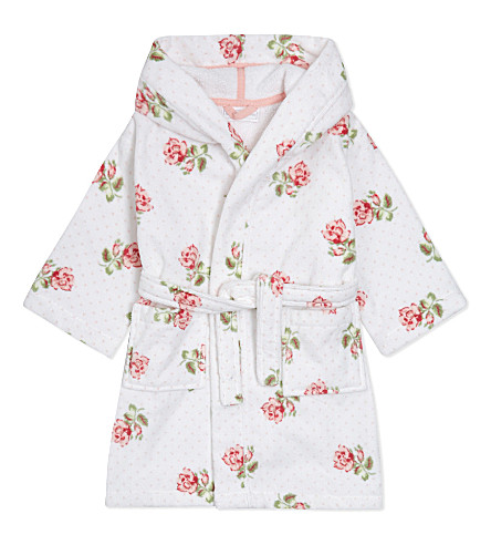 THE LITTLE WHITE COMPANY - Matilda cotton dressing gown 1-5 years ...