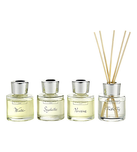 THE WHITE COMPANY Mini diffuser collection set of four 50ml (No+colour