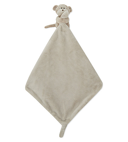 THE LITTLE WHITE COMPANY Monkey comforter 14cm (Brown