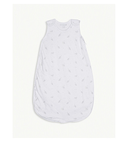 THE LITTLE WHITE COMPANY Embroidered meadow flowers combed cotton nightdress and bloomers 1- 6 years (Multi