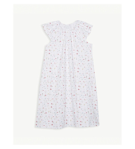 THE LITTLE WHITE COMPANY Meadow print cotton nightdress 7-12 years (Multi