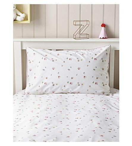 THE LITTLE WHITE COMPANY Meadow Floral cotton standard pillowcase (Multi