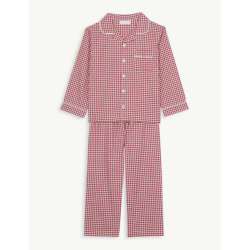 THE LITTLE WHITE COMPANY | Mini Gingham Cotton Pyjamas 1-6 Years | Goxip