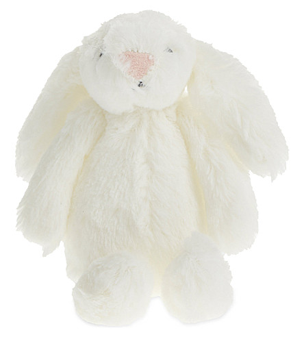 THE LITTLE WHITE COMPANY Mini bashful bunny 6cm (White