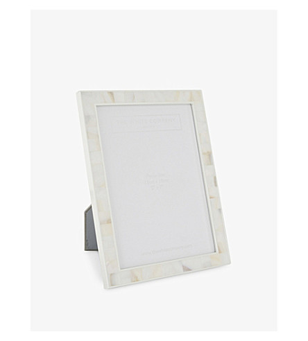"THE WHITE COMPANY Mother of pearl photo frame 5x7"" (White"