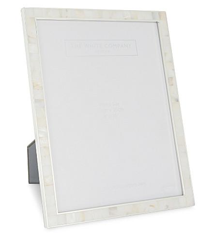 "THE WHITE COMPANY 珍珠之母相框 8x10 ""(白色"