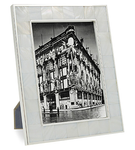 THE WHITE COMPANY Mother of pearl photo frame 5x7'' (White/silver