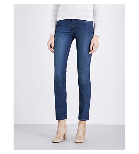 THE WHITE COMPANY Marylebone straight-fit high-rise jeans (Vintage+indigo
