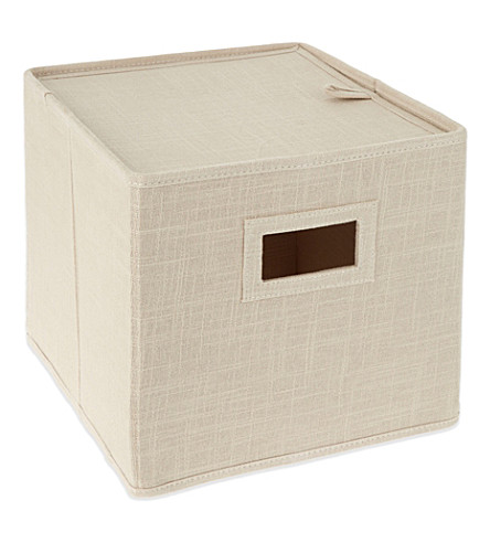 THE LITTLE WHITE COMPANY Natural storage cube (Natural