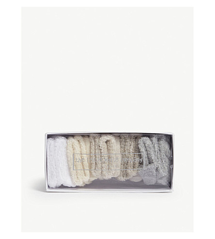 THE LITTLE WHITE COMPANY Pack of five cotton socks (Multi