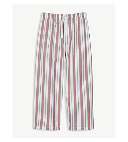 THE LITTLE WHITE COMPANY Nautical stripe cotton pyjama bottoms 1-6 years (Post+box+red