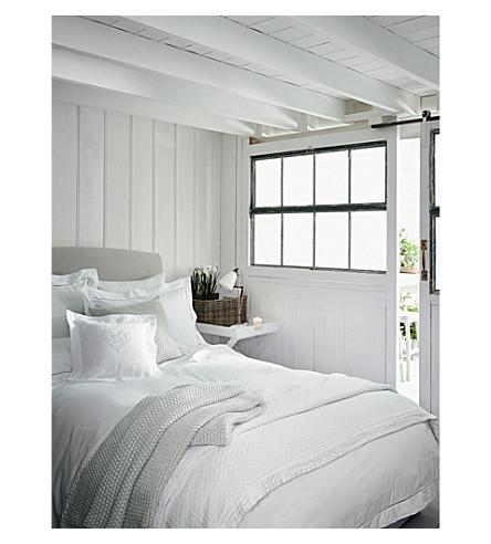 THE WHITE COMPANY Santorini king size duvet cover (White