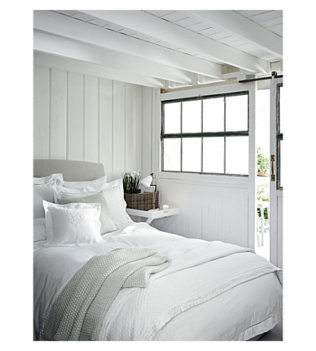 THE WHITE COMPANY Santorini single duvet cover (White