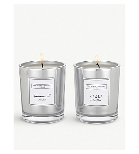 THE WHITE COMPANY No.155 & Symons St. Votive scented candles set of two (No+colour