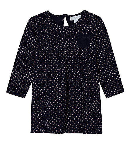 THE LITTLE WHITE COMPANY Olivia cotton jersey dress 0-24 months (Multi