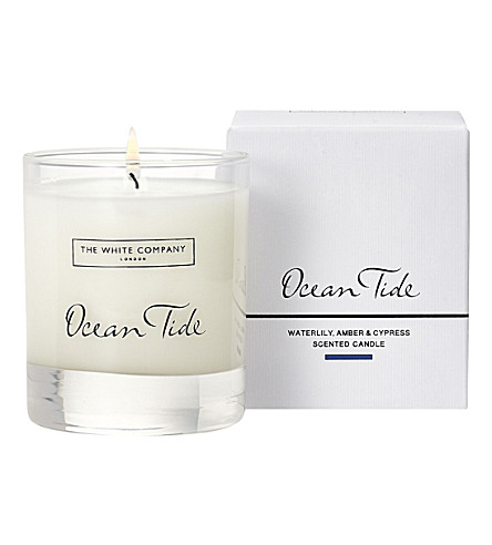 THE WHITE COMPANY Ocean Tide Signature candle 140g (No+colour