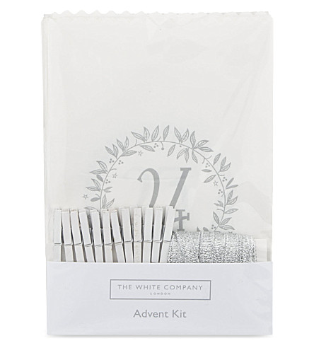 The White Company Advent Calendar Bags