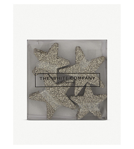 THE WHITE COMPANY Star table scatters set of 20 (Silver