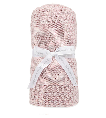 THE LITTLE WHITE COMPANY Patchwork cotton blanket (Pink