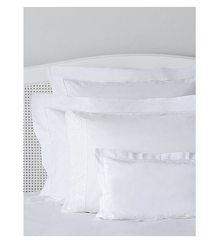 THE WHITE COMPANY Adeline cotton percale cushion cover (White