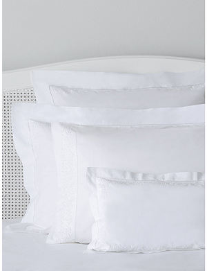THE WHITE COMPANY Adeline cotton percale cushion cover