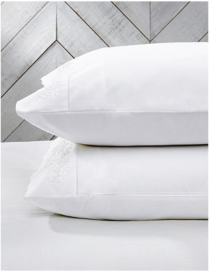 THE WHITE COMPANY Adeline housewife cotton pillowcase
