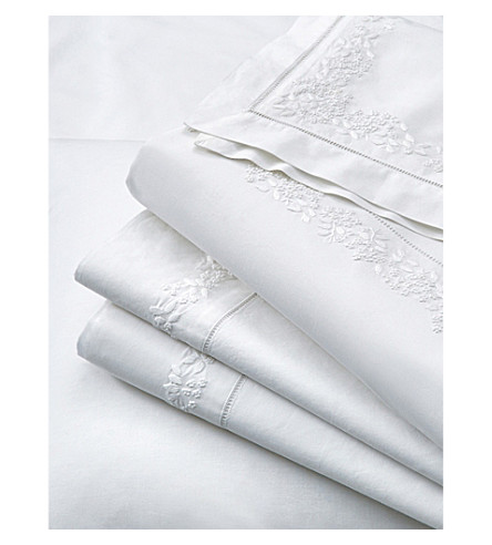 THE WHITE COMPANY Adeline cotton flat sheet (White