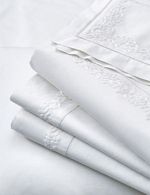 THE WHITE COMPANY Adeline cotton flat sheet