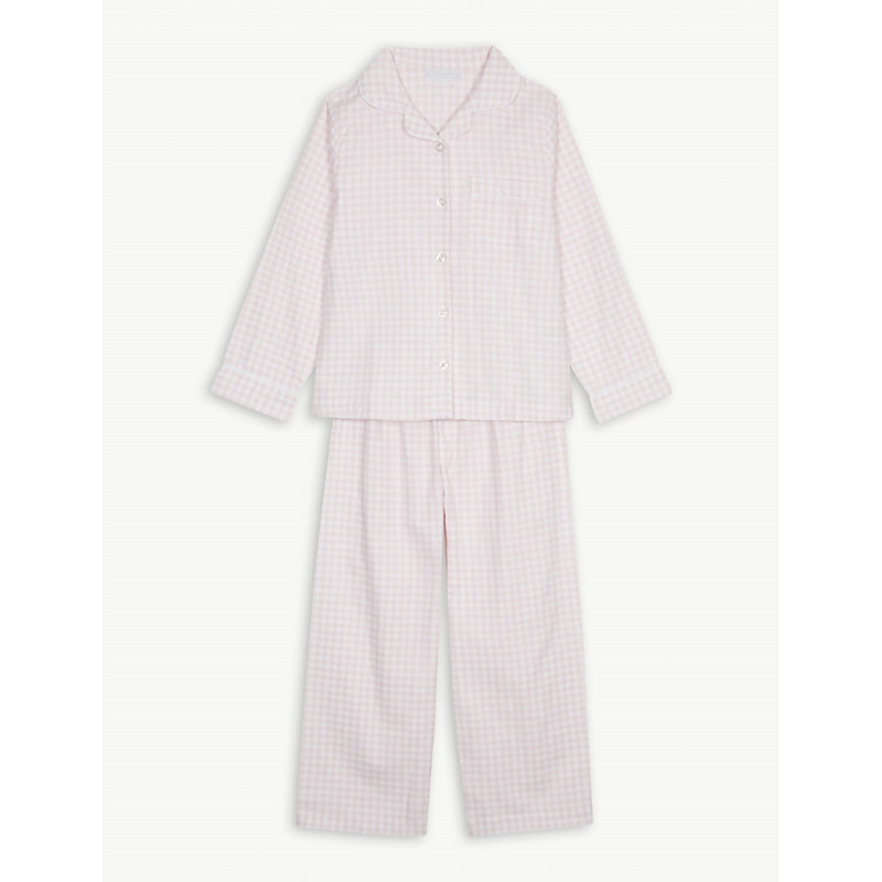 THE LITTLE WHITE COMPANY | Gingham Flannel Pyjamas 1-6 Years | Goxip