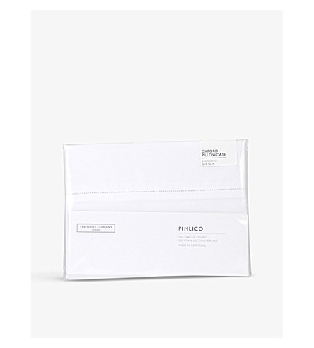 THE WHITE COMPANY Pimlico cotton Oxford pillowcase (White