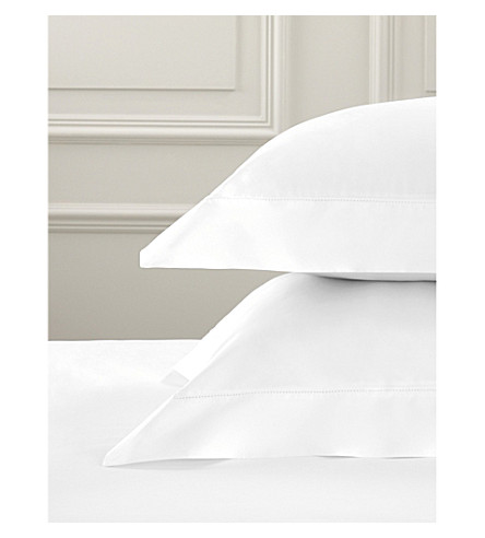 THE WHITE COMPANY Pimlico super king cotton Oxford pillowcase (White