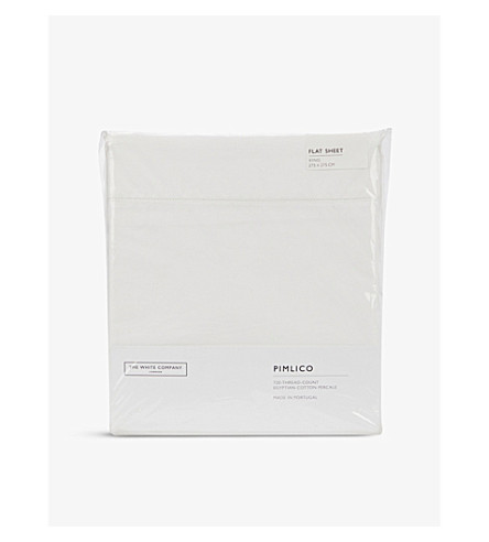 THE WHITE COMPANY Pimlico king flat sheet (White