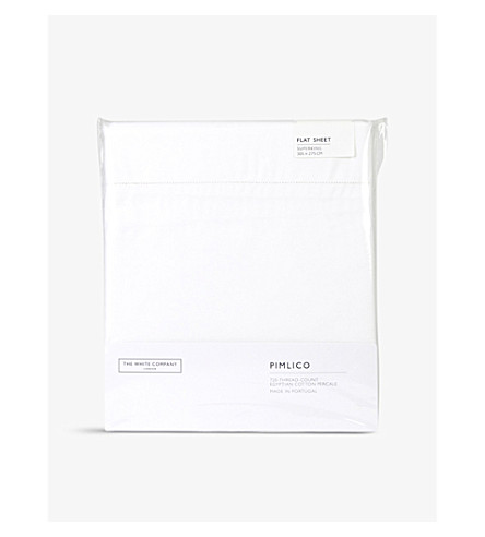 THE WHITE COMPANY Pimlico superking flat sheet (White