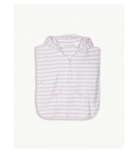 THE LITTLE WHITE COMPANY Striped towelling cover-up 0-24 months (Pink