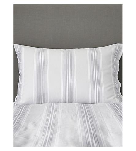 THE WHITE COMPANY Pemberton cotton housewife pillow case 50x75cm (White/blue