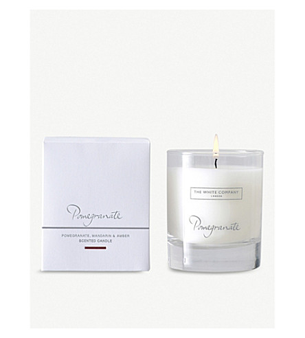 THE WHITE COMPANY Pomegranate candle 140g (No+colour