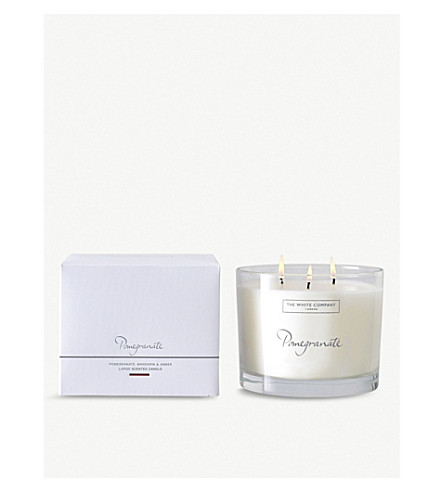 THE WHITE COMPANY Pomegranate large candle 770g