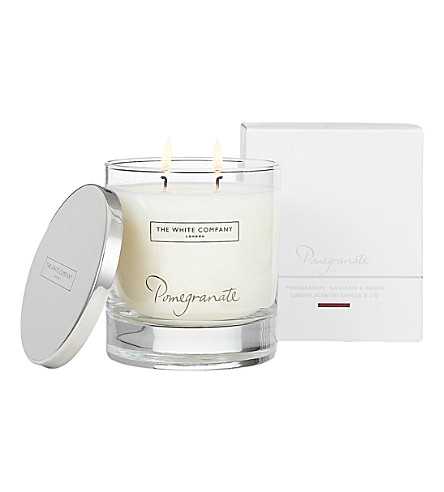 THE WHITE COMPANY Pomegranate luxury candle with lid 280g (No+colour