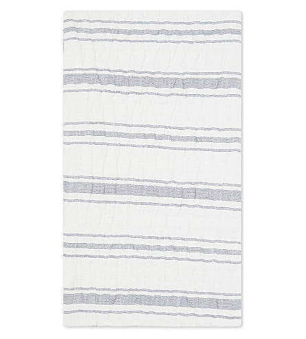 THE WHITE COMPANY Portreath small striped retangle cushion cover (White/blue