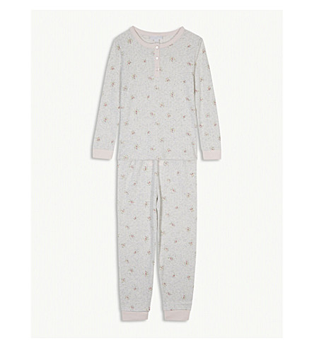 THE LITTLE WHITE COMPANY Pointelle heart cotton pyjamas 1-6 years (Multi