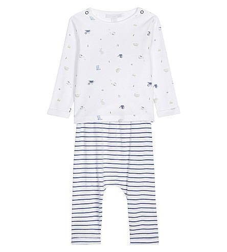 THE LITTLE WHITE COMPANY Garden print cotton pyjamas 0-24 months (Multi