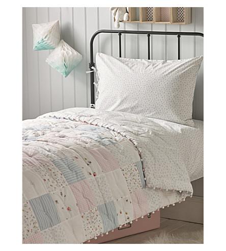 THE LITTLE WHITE COMPANY Pom-pom trim cotton quilt (Multi