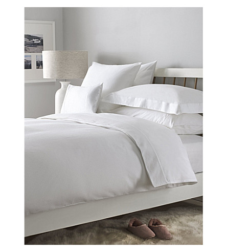 THE WHITE COMPANY Petersham duvet cover (White