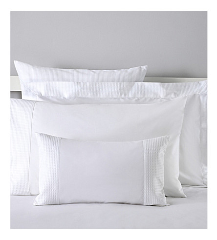 THE WHITE COMPANY Petersham housewife pillowcase (White