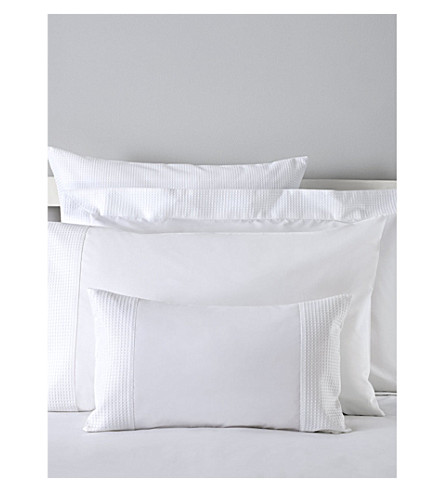THE WHITE COMPANY Petersham Oxford pillowcase (White