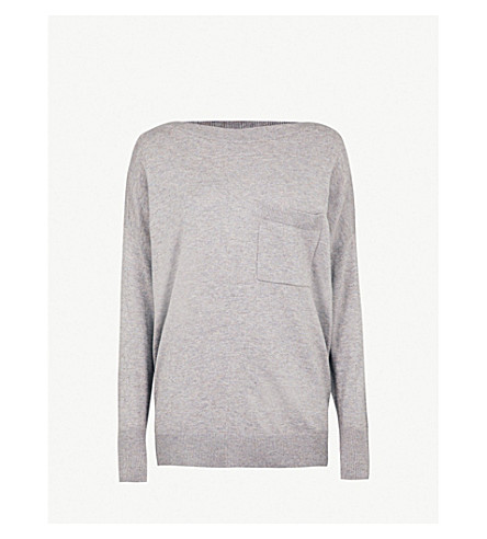 THE WHITE COMPANY Relaxed-fit wool and cotton-blend jumper (Nutmeg
