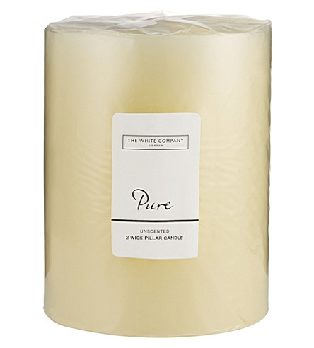 THE WHITE COMPANY Pure large candle (No+colour